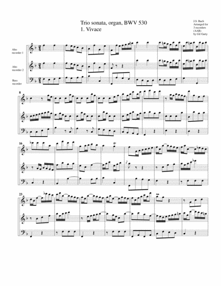 Trio sonata for organ, no.6, BWV 530