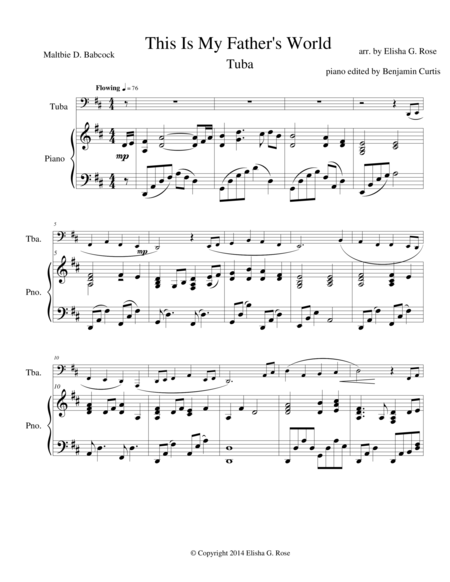 This Is My Father's World - Tuba
