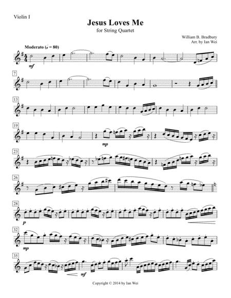 Jesus Loves Me for String Quartet