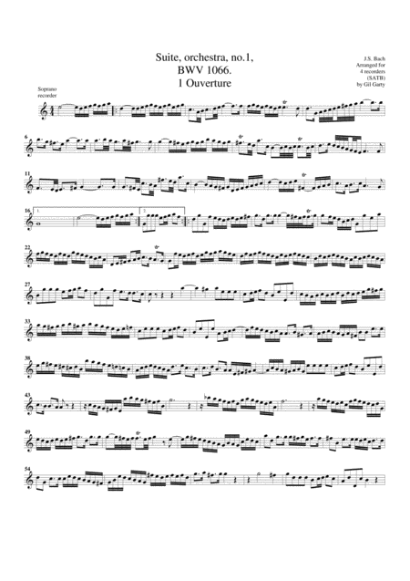 Suite for orchestra no.1, BWV 1066
