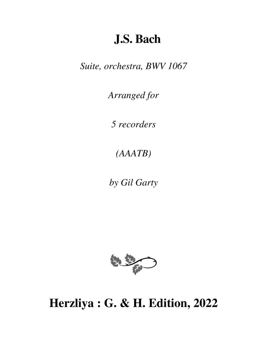 Suite for orchestra no.2, BWV 1067