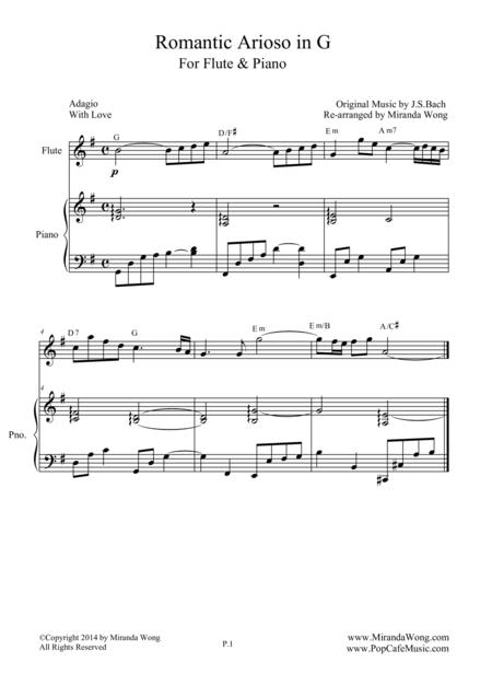 Romantic Arioso in G - Flute and Piano Version