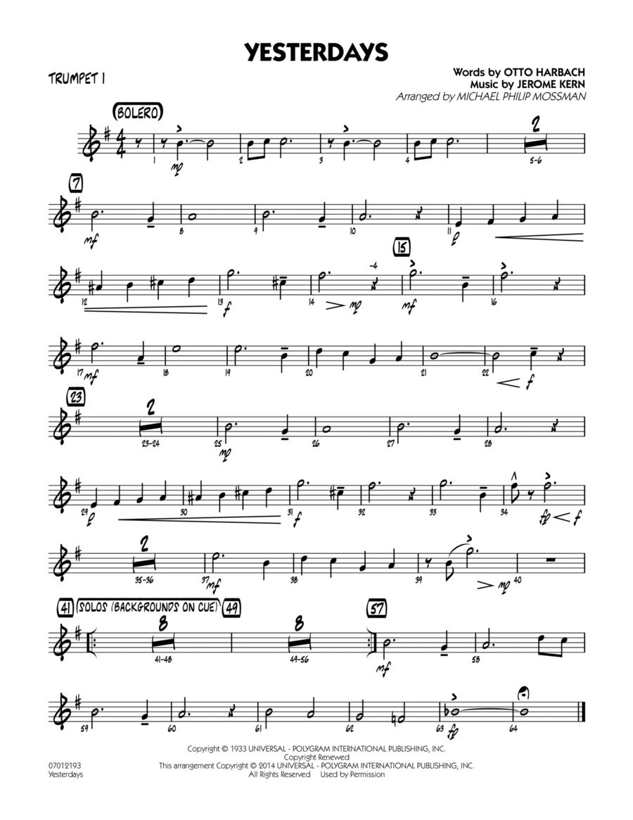 Yesterdays - Trumpet 1