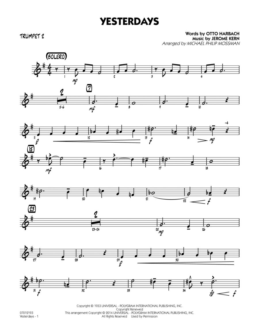 Yesterdays - Trumpet 2