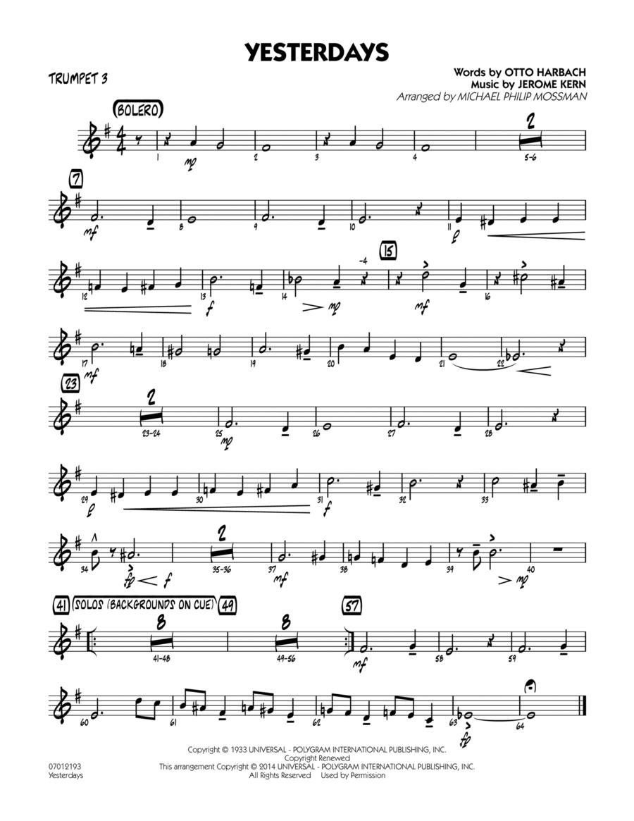 Yesterdays - Trumpet 3