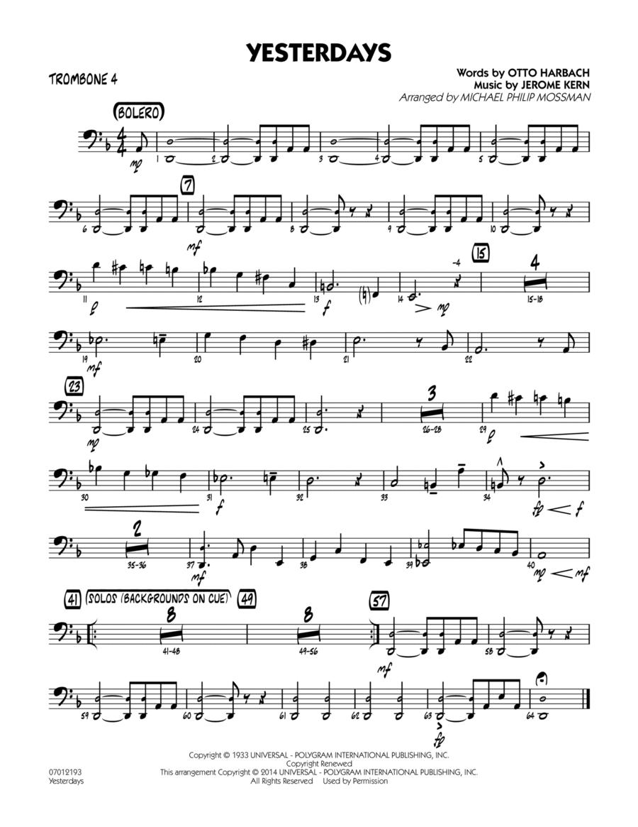 Yesterdays - Trombone 4