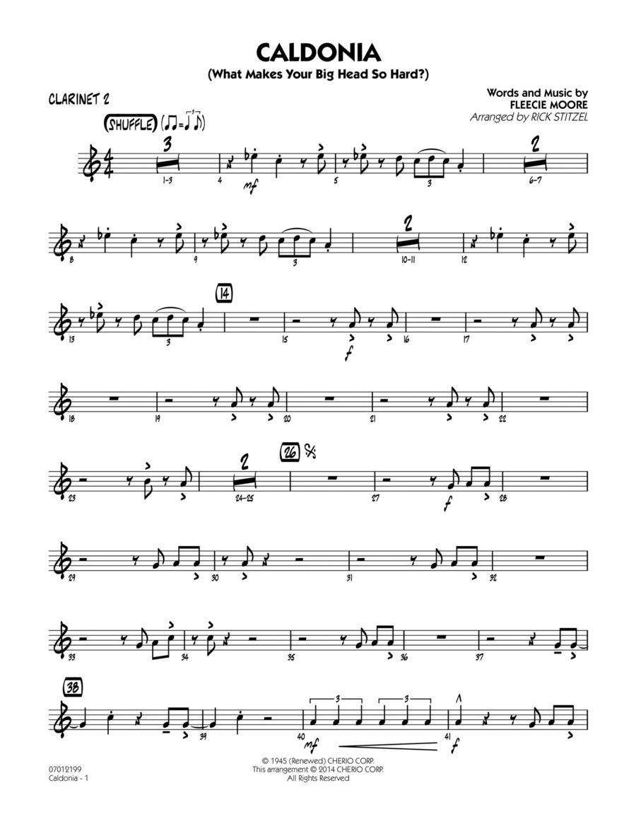 Caldonia (What Makes Your Big Head So Hard?) - Bb Clarinet 2