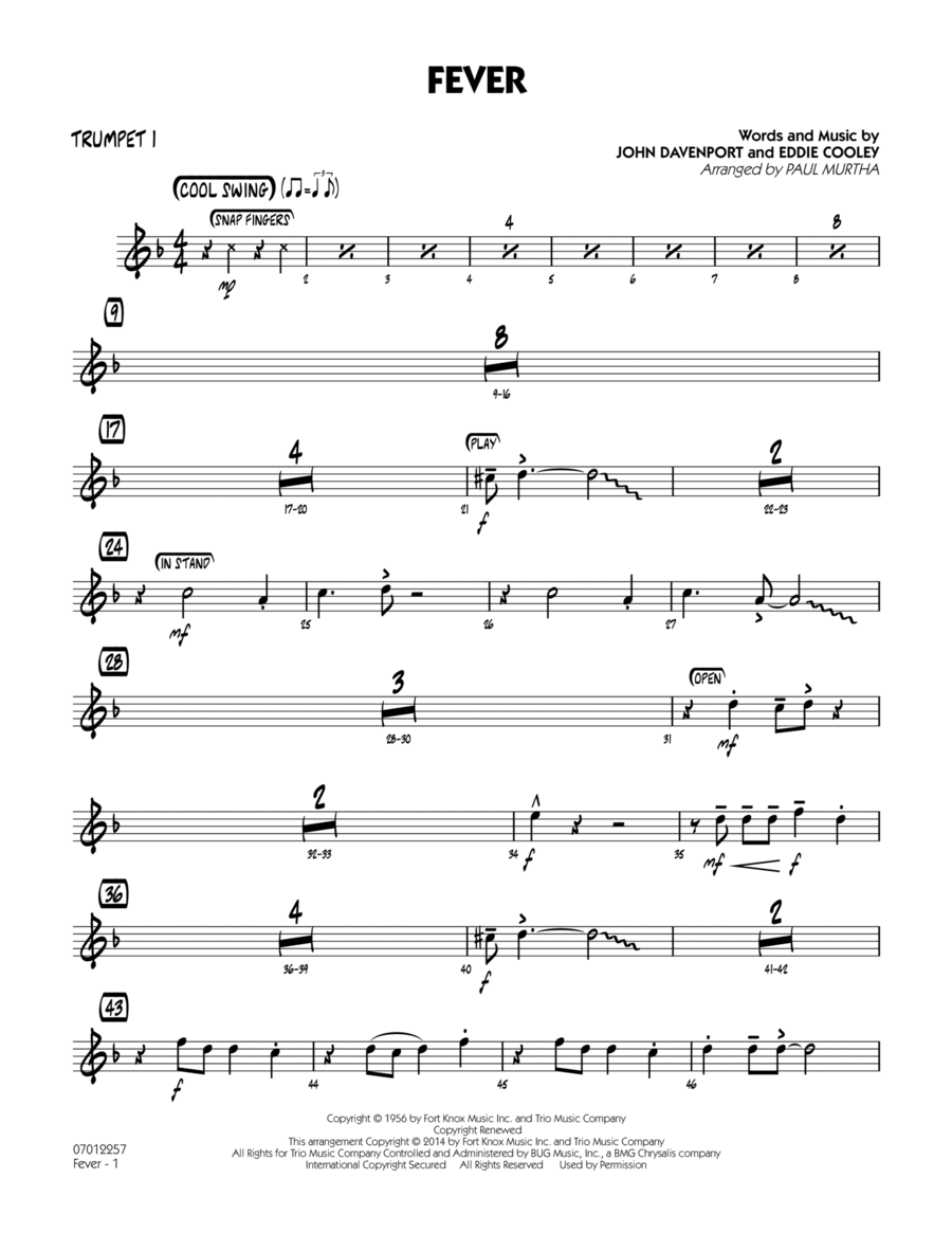 Fever - Trumpet 1