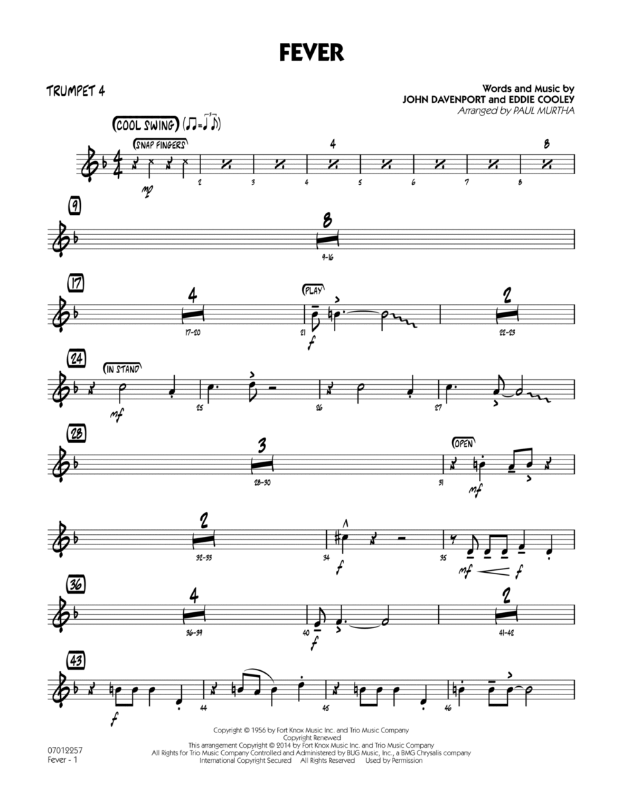 Fever - Trumpet 4