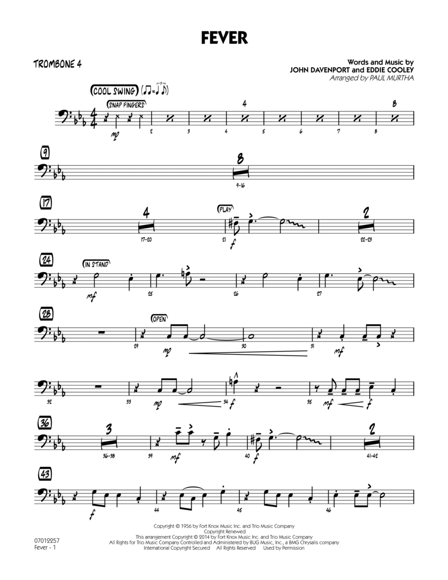 Fever - Trombone 4