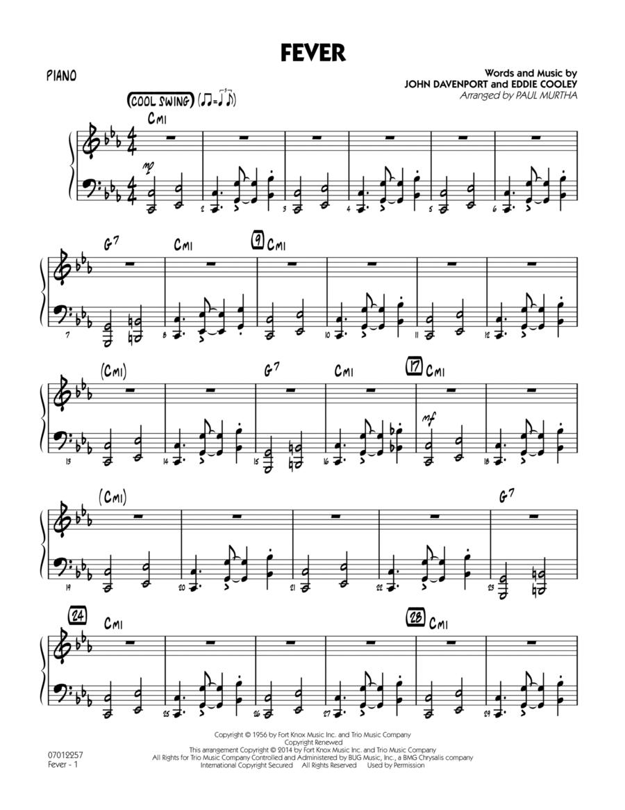 Fever - Piano