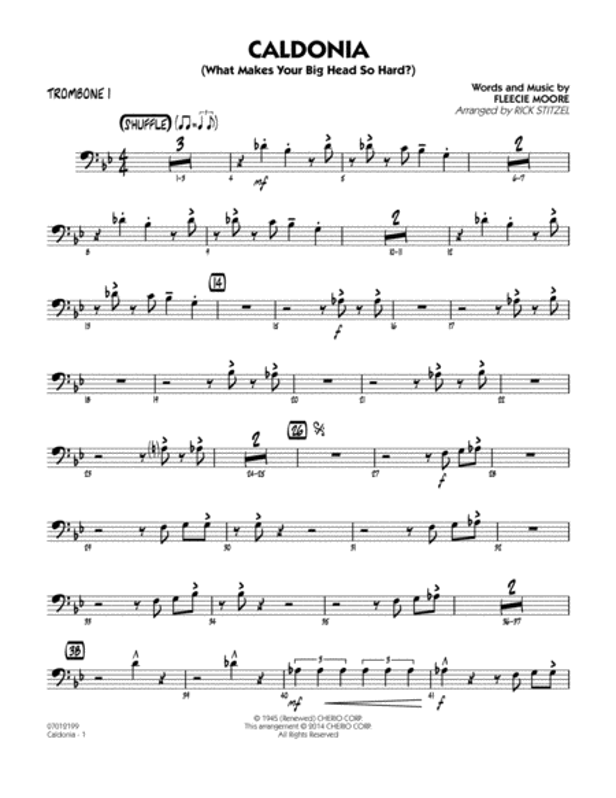 Caldonia (What Makes Your Big Head So Hard?) - Trombone 1