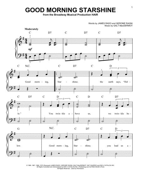 Good Morning Starshine Oliver Download : Download good morning starshine sheet music by stephen