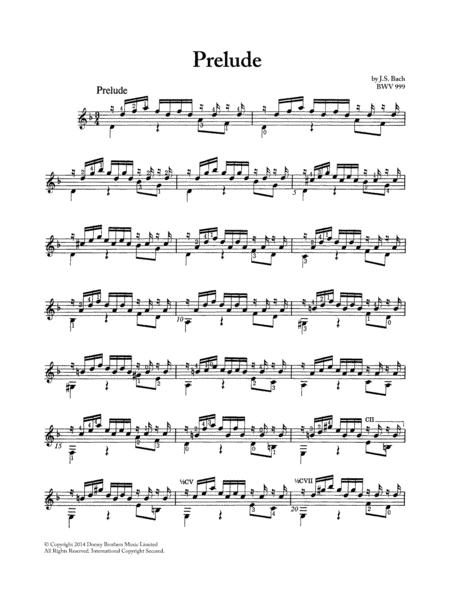 Prelude BWV 999