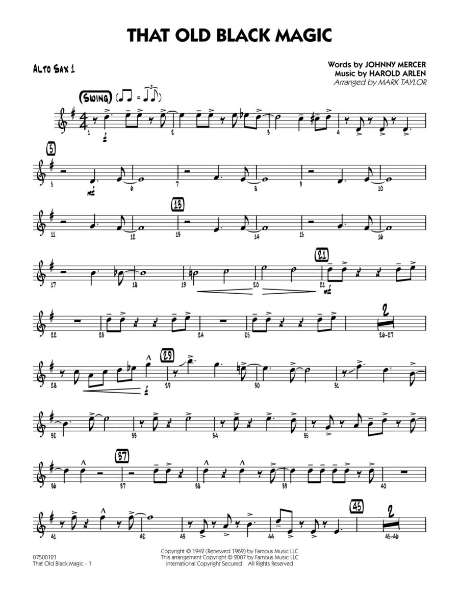 That Old Black Magic - Alto Sax 1