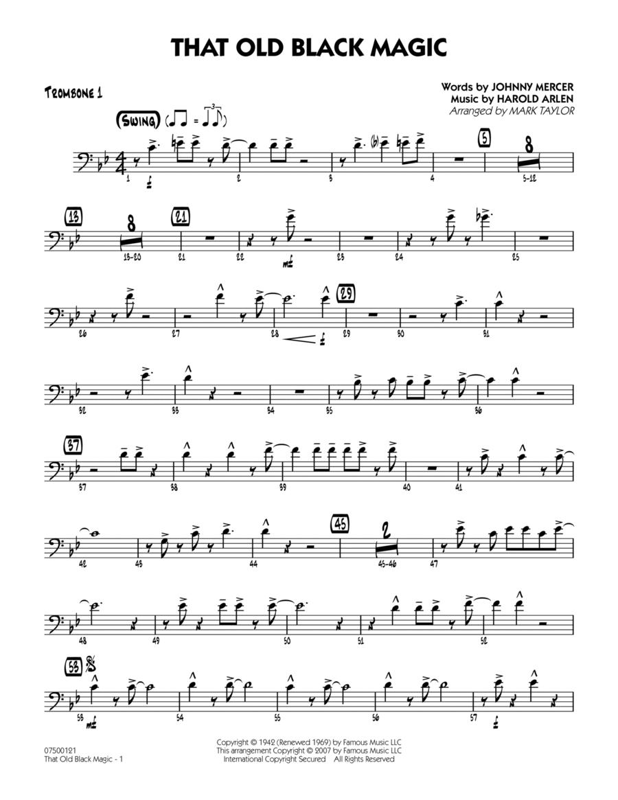 That Old Black Magic - Trombone 1