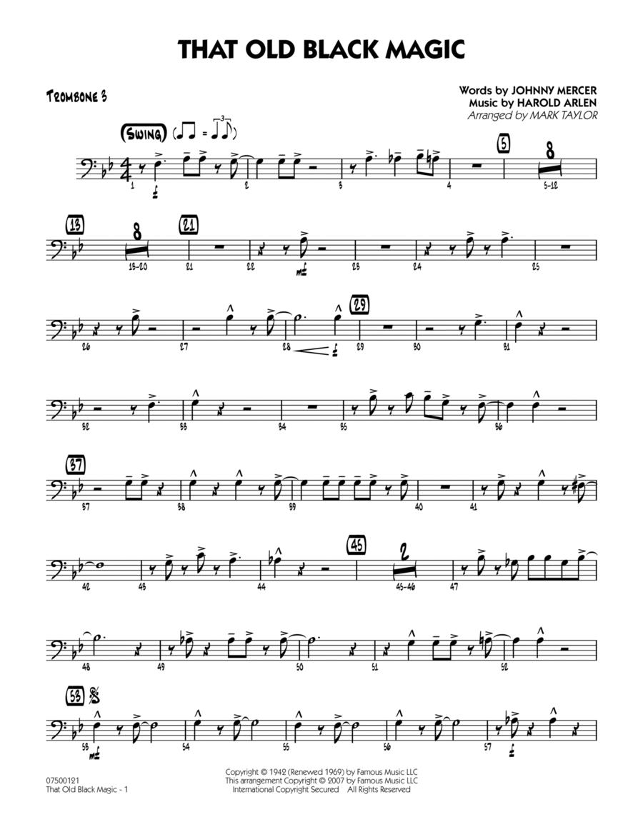 That Old Black Magic - Trombone 3