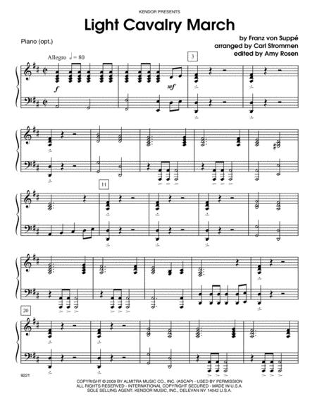 Light Cavalry March - Piano