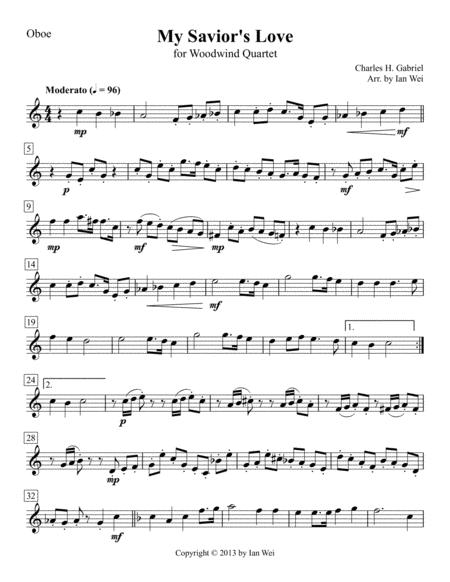 My Savior's Love for Woodwind Quartet