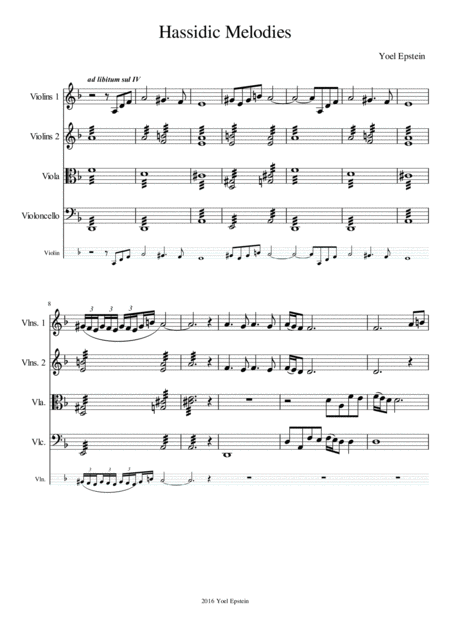 Chassidic Dances for String Quartet