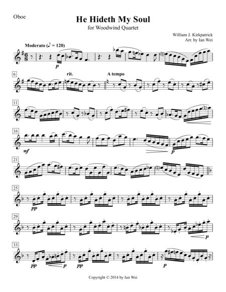 He Hideth My Soul for Woodwind Quartet