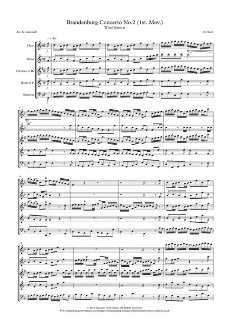 Brandenburg Concerto No. 2 (1st. Mov.): Wind Quintet