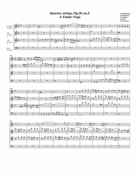 Fugue from string quartet, Op.20, no.5