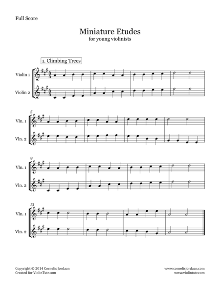 Miniature Etudes for Young Violinists