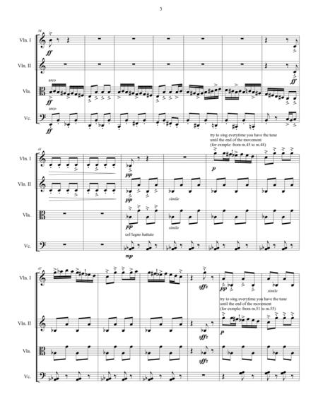 Miniatures Set No.4  for String Quartet (score)