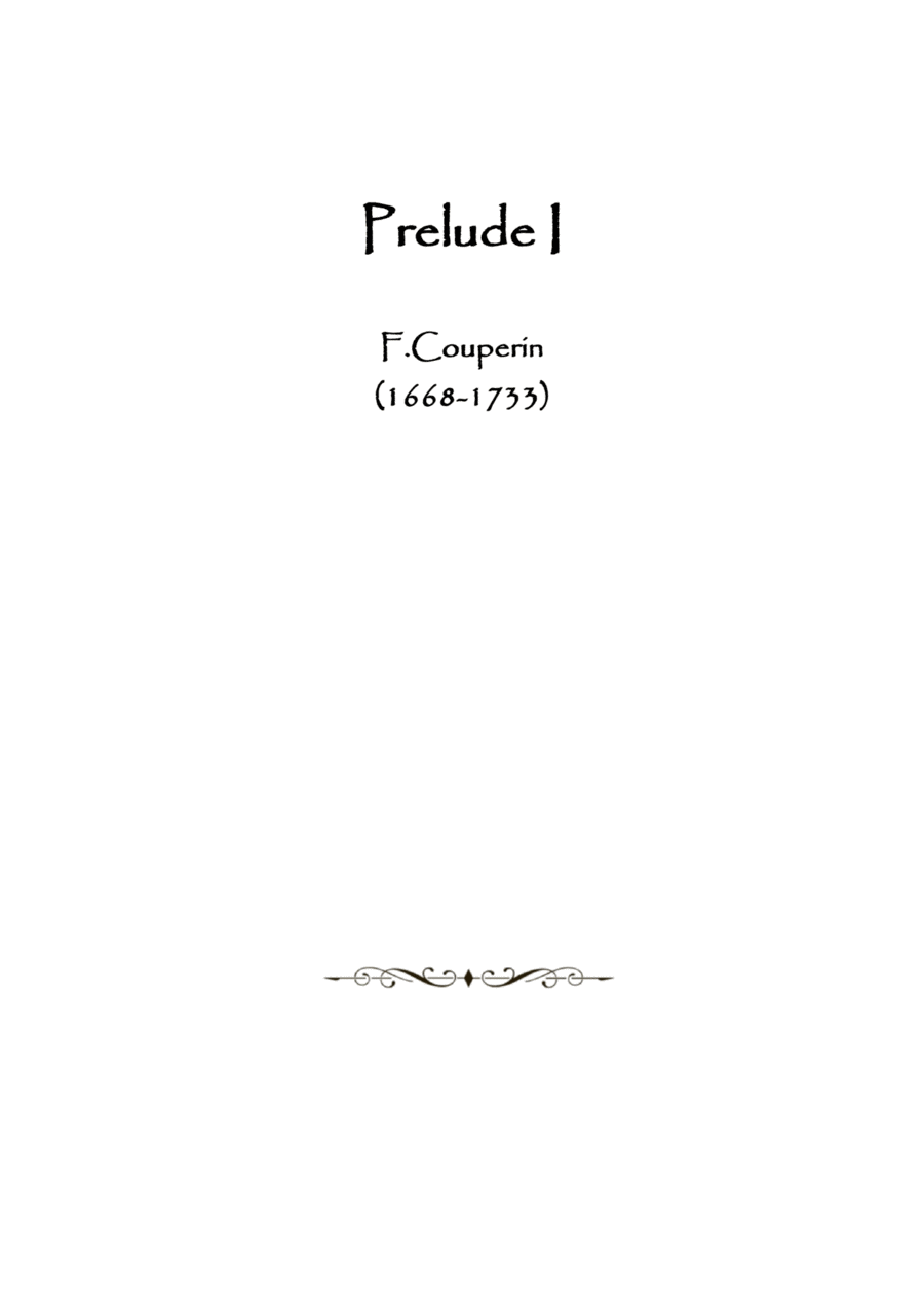 Prelude I by F. Couperin