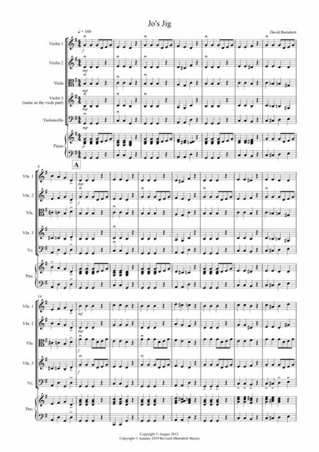 Jo's Jig for String Quartet