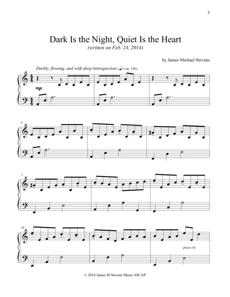 Dark Is the Night, Quiet Is the Heart