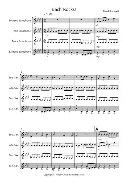 Bach Rocks! for Saxophone Quartet