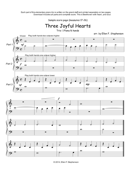 Three Joyful Hearts (1P/6H)