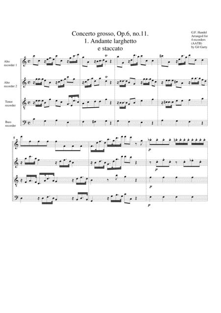 Concerto grosso, Op.6, no.11