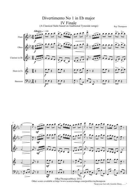 Divertimento No 1 in Eb major:Mvt IV Finale (Rondo)