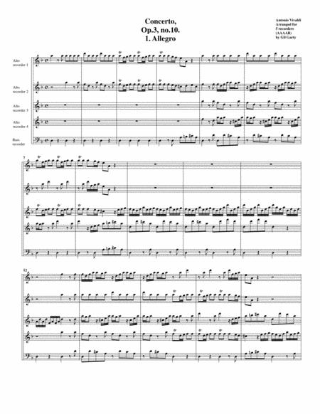 Concerto grosso, Op.3, no.10