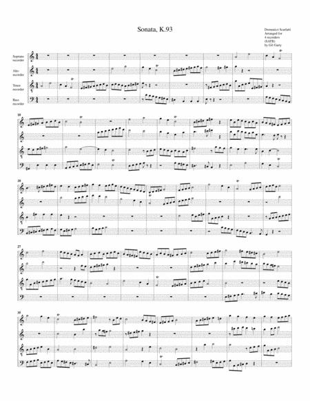 Sonata K.93 (fugue)