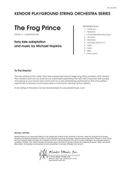 Frog Prince, The - Full Score