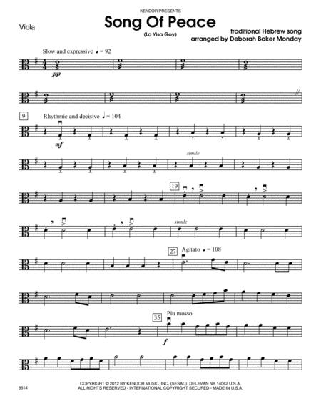 Song Of Peace (Lo Yisa Goy) - Viola
