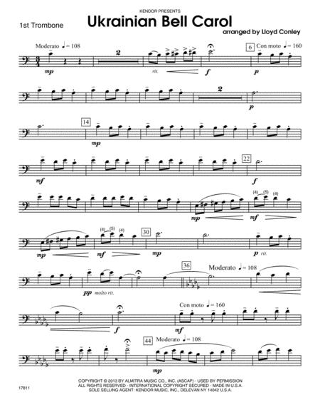 Ukrainian Bell Carol - 1st Trombone