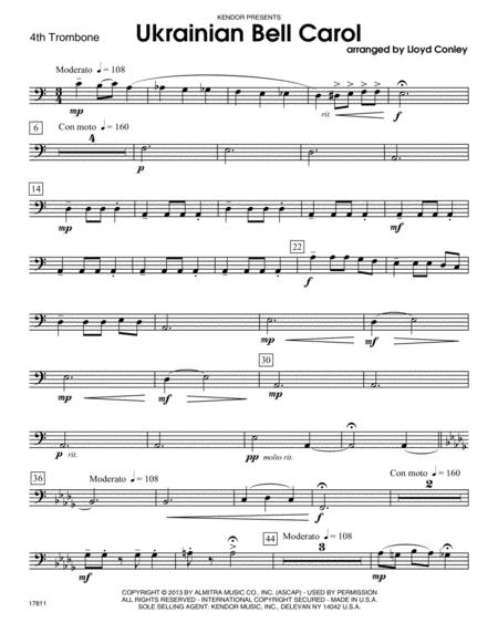 Ukrainian Bell Carol - 4th Trombone