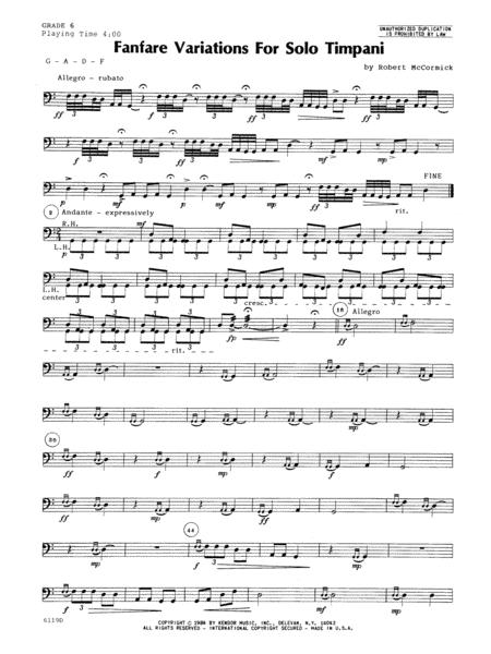 Fanfare Variations For Solo Timpani