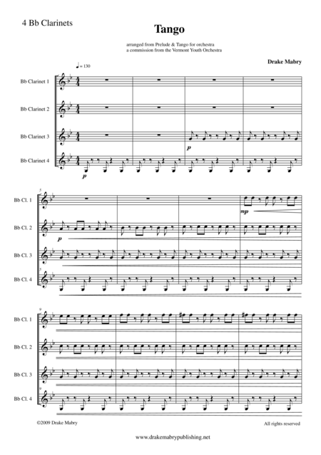 Tango (score & parts)