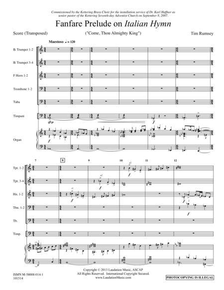 Fanfare Prelude on 'Italian Hymn'