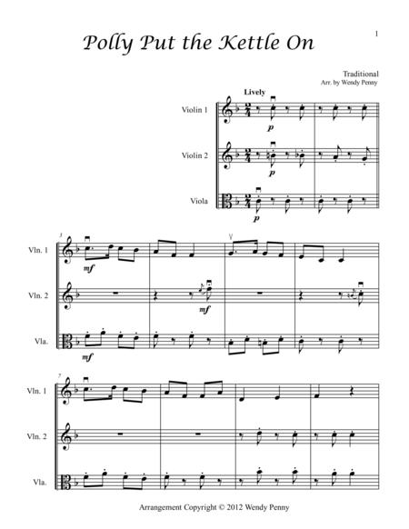 Nursery Rhymes for Two Violins and Viola Book 2