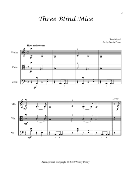 Nursery Rhymes for Violin, Viola and Cello Book 3