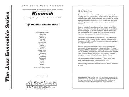 Kaomah - Full Score