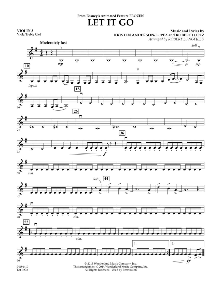 Let It Go - Violin 3 (Viola T.C.)