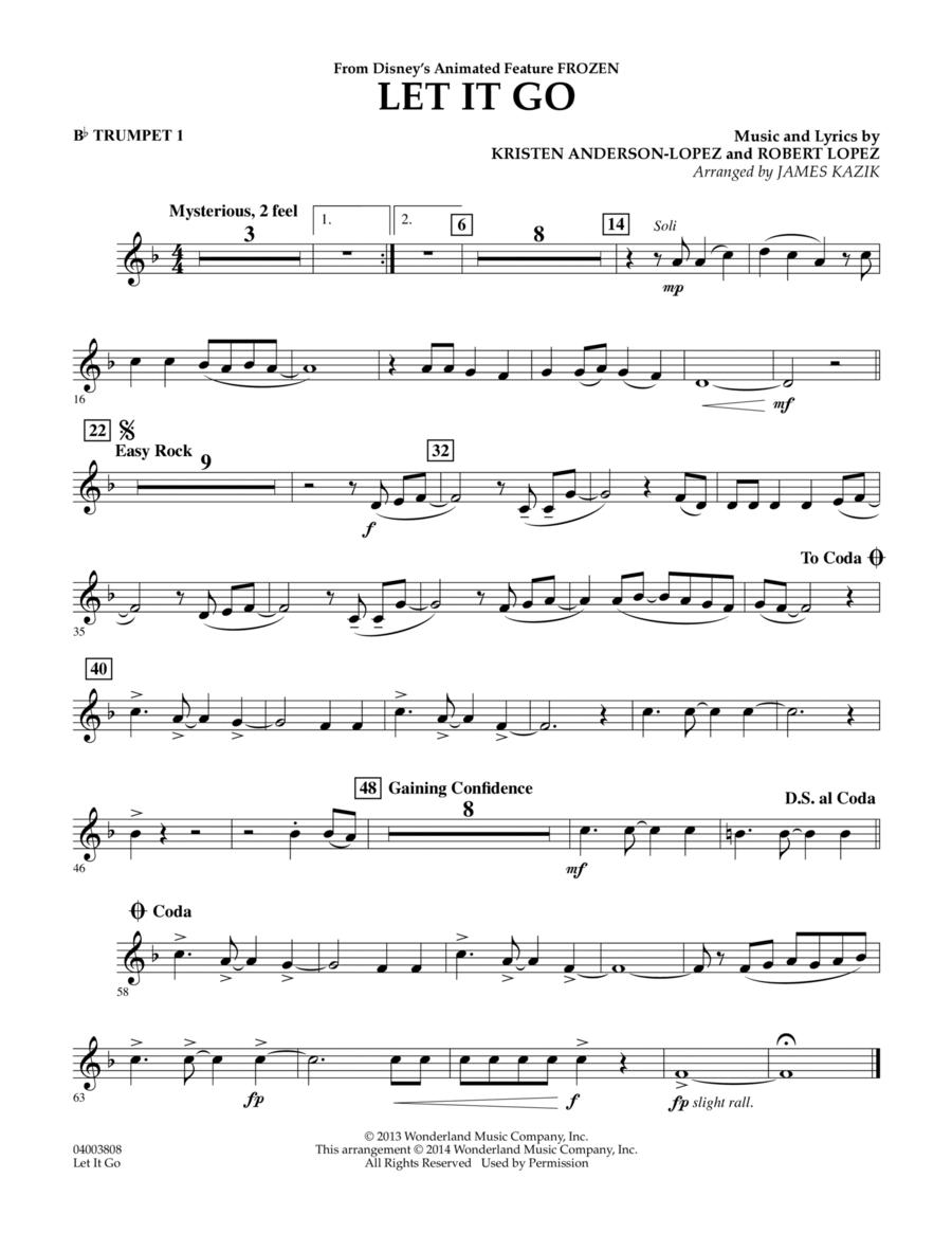 download let it go bb trumpet 1 sheet music by idina. Black Bedroom Furniture Sets. Home Design Ideas